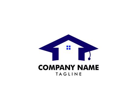 Home Schooling Logo Vector Template Ilustração