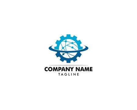 Techno Gear Logo Template Design