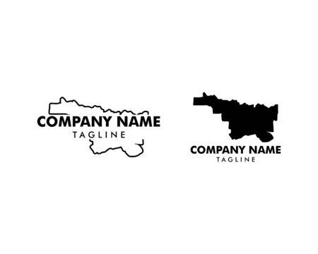 Set of North Texas map logo icon vector illustration