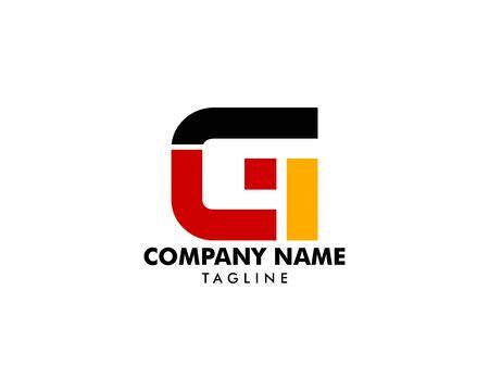 Initial Letter GLT Logo Template Design