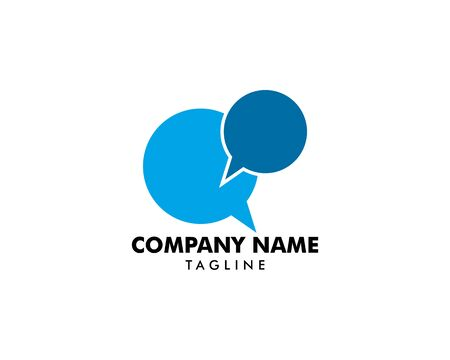 Bubble Chat Concept Logo Design Template Stock Vector - 124858371