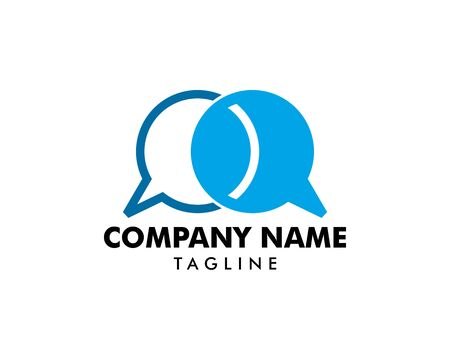 Bubble Chat Concept Logo Design Template Stock Vector - 124858372