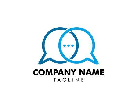 Bubble Chat Concept Logo Design Template Stock Vector - 124858375