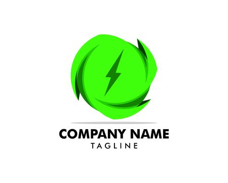 Green Power Energy Logo Design Element Banque d'images - 124858420