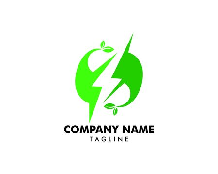 Green Power Energy Logo Design Element Banque d'images - 124858421