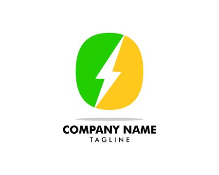 Green Power Energy Logo Design Element Banque d'images - 124858425