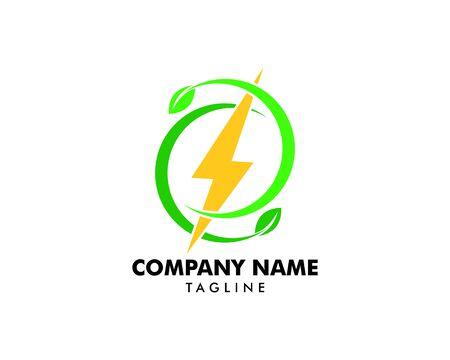Green Power Energy Logo Design Element Standard-Bild - 124858426