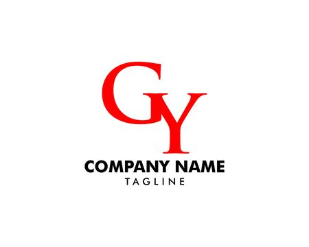 Initial Letter GY Logo Template Design Banque d'images - 124858469