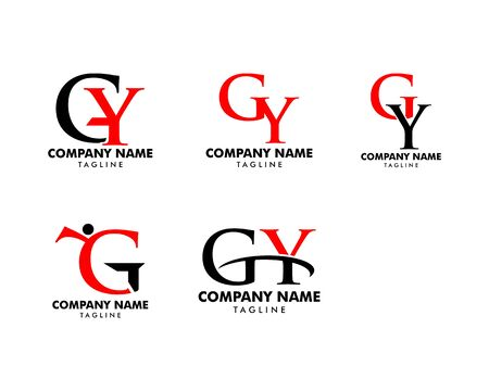 Set of Initial Letter GY Logo Template Design Banque d'images - 124858474
