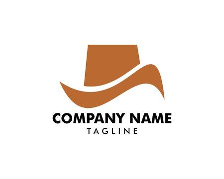Hat Cowboy Vector Logo Template