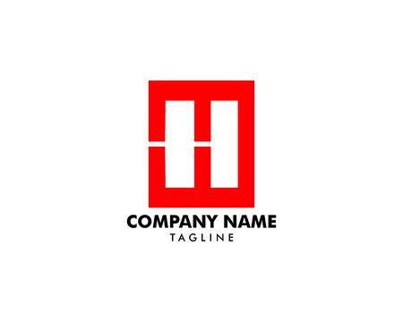Initial Letter H Logo Template Design Banque d'images - 124858487