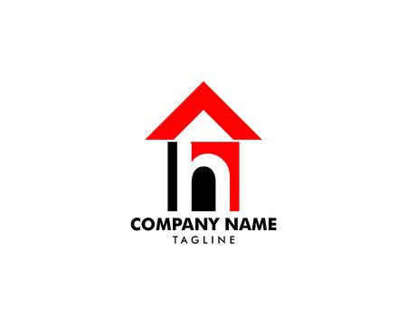 Initial Letter H House Logo Template Banque d'images - 124858526