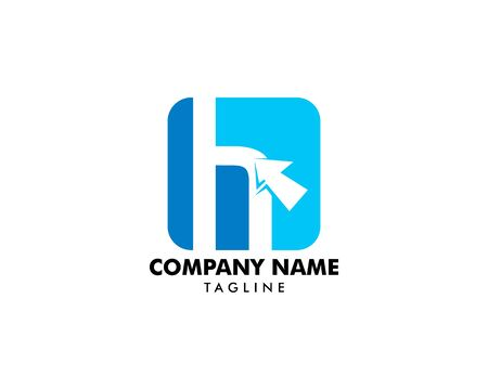 Initial letter H with arrow symbol logo vector illustration Banque d'images - 124858531