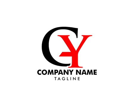 Initial Letter GY Logo Template Design Banque d'images - 124858533