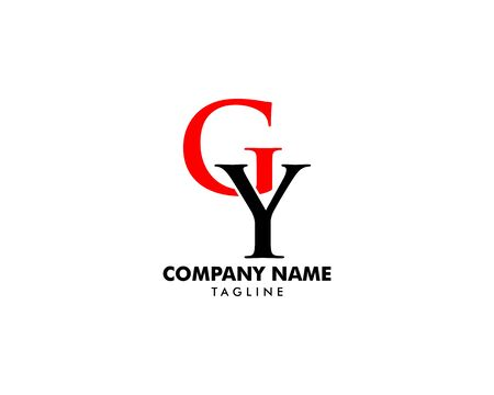 Initial Letter GY Logo Template Design Banque d'images - 124858536