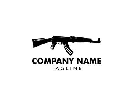 AK 47 Logo Template Design Banque d'images - 124858560
