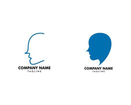 Set of Head Logo abstract design vector template