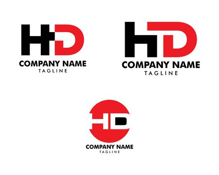 Set of Initial Letter HD Logo Template Design Banque d'images - 124858637