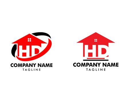 Set of HD Letter Real Estate Logo Design Banque d'images - 124858638