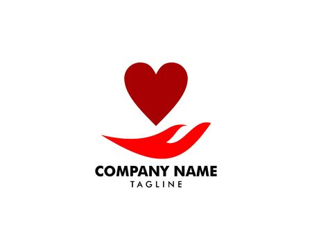 Heart Care Logo Template Design Banque d'images - 124858689