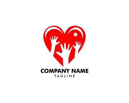 Heart Care Logo Template Design Banque d'images - 124858694