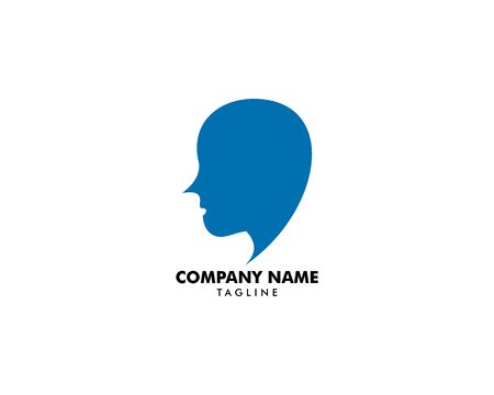 Head Logo abstract design vector template Banque d'images - 124858696