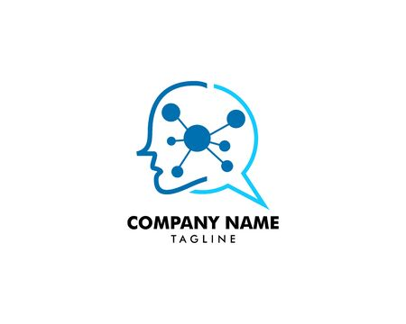 Human head with molecule logo icon Banque d'images - 124858698