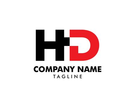 Initial Letter HD Logo Template Design Banque d'images - 124858736