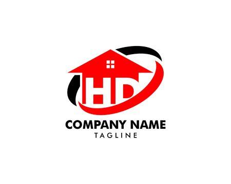 HD Letter Real Estate Logo Design Banque d'images - 124858737