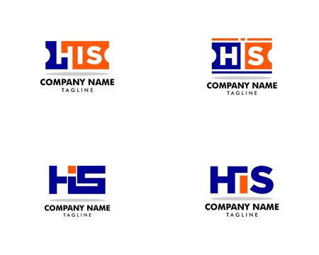 Set of Initial Letter HIS Logo Template Design Banque d'images - 124858738