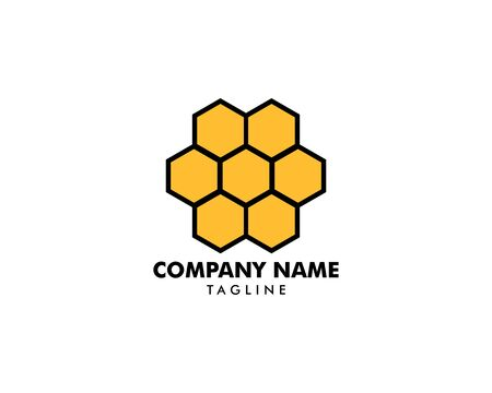 Honeycomb Logo Template Design Vector Banque d'images - 124858709