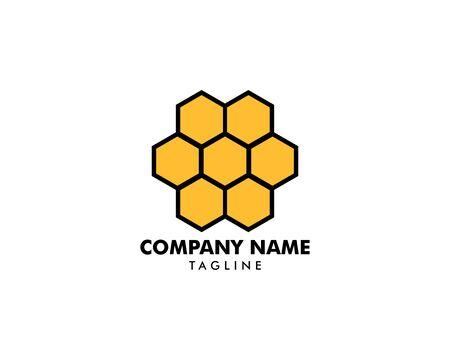 Honeycomb Logo Template Design Vector Illustration