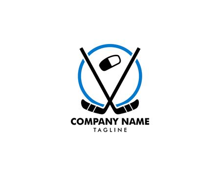 Hockey Logo Template Vector Design Element Banque d'images - 124858712