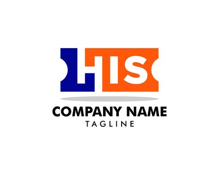 Initial Letter HIS Logo Template Design Banque d'images - 124858744