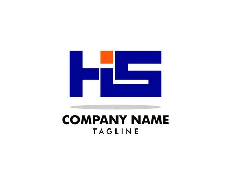 Initial Letter HIS Logo Template Design Banque d'images - 124858748