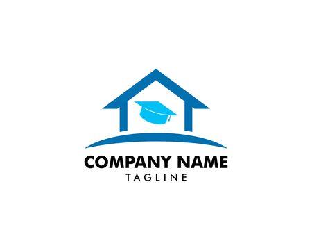 Home Schooling Logo Vector Template 矢量图像