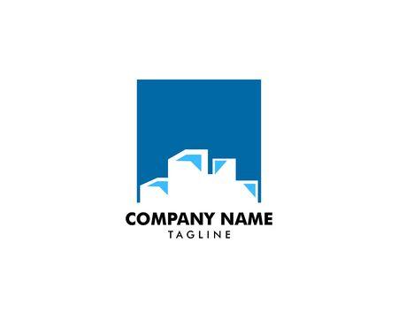 Ice Cube Logo Template Design
