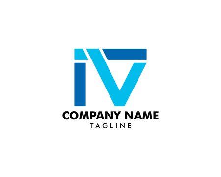 Initial Letter IV Logo Template Design