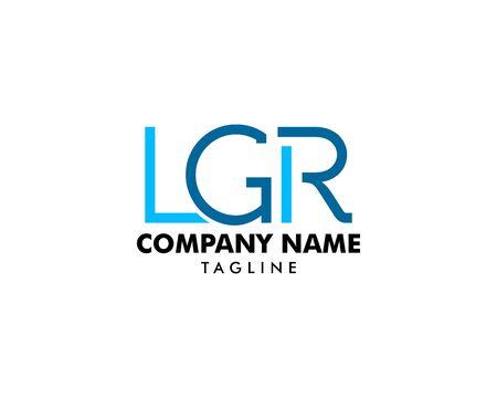 Initial Letter LGR Logo Template Design