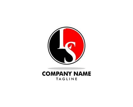 Initial Letter LS Logo Template Design Logó