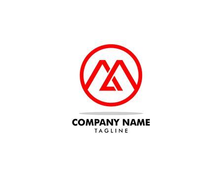 Initial Letter MA Logo Template Design Logo