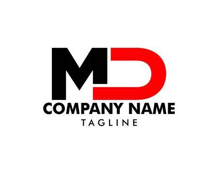 Initial Letter MD Logo Template Design Illustration