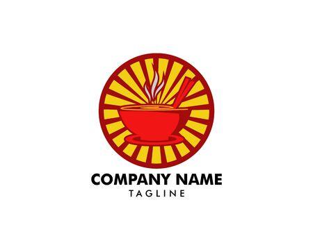 Noodle logo design icon template  イラスト・ベクター素材