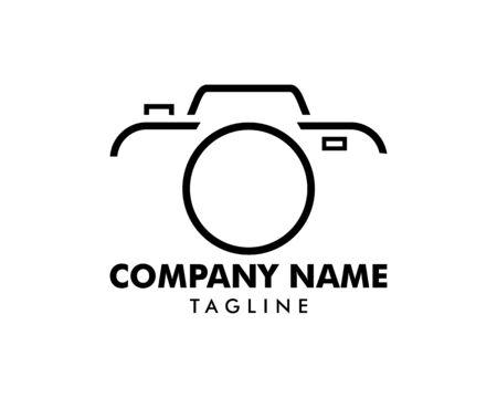 Plantilla de vector de icono de logotipo de fotografía de cámara