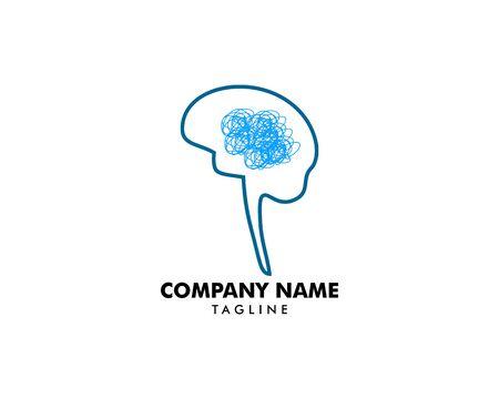 Psychology Vector Logo Template Design Illustration