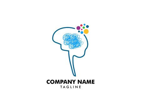 Psychology Vector Logo Template Design Stock Illustratie
