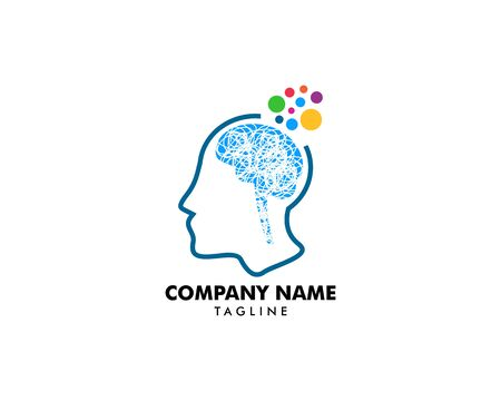 Psychology Vector Logo Template Design Stockfoto - 128529700