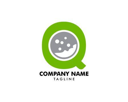 Initial Letter Q Golf Icon Logo Design Element