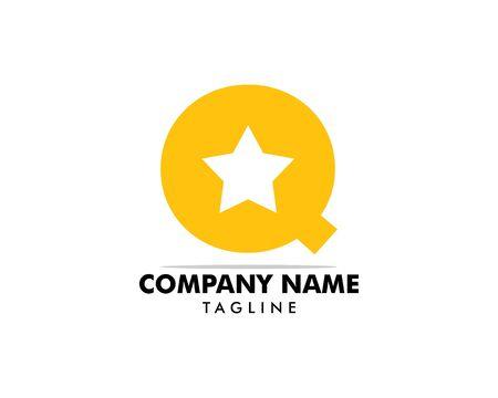 Initial Letter Q Star Logo Design