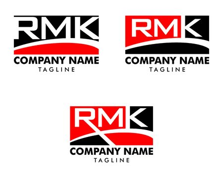 Set of Initial Letter RMK Logo Template Design 일러스트